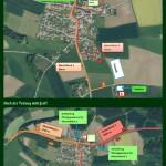 Verlauf Kirchen- und Festzug beim 126. Gautrachtenfest in Peterskirchen